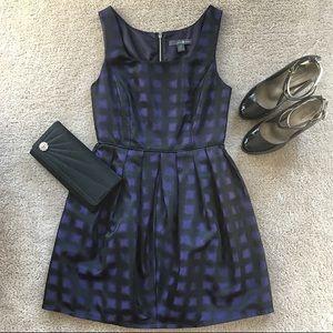Purple & Black Party Dress