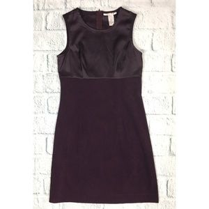 Vintage Purple Faux Suede Sleeveless Mini Dress