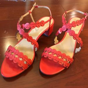 Banana Republic red strappy sandals