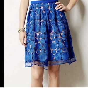 Eva Franco Blue Over NudeLace Circle Swing skirt 2