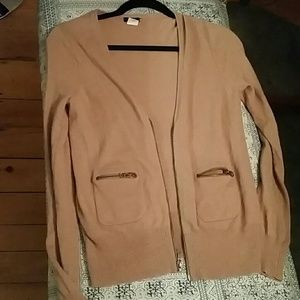 J. Crew Dusty Rose Zip-up Cardigan
