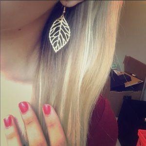 Jewelry - Dainty Gold Leaf Earrings