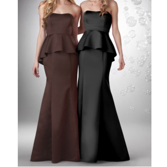 Bari Jay Dresses Evening Gown Peplum Bridesmaid Dress Poshmark
