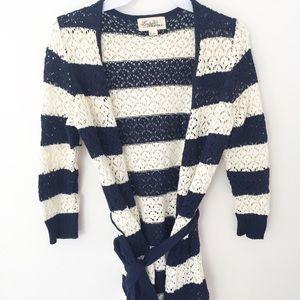 Nautical Navy Stripe Cardigan