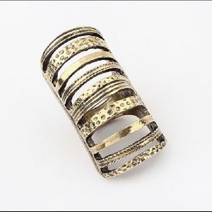 NWT Gold ring panel