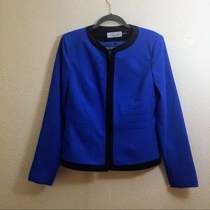 Calvin Klein Blue and Black Suit Jacket