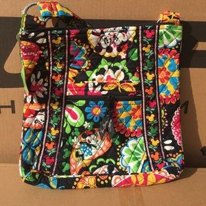 Vera Bradley hipster bag in Midnight with Mickey