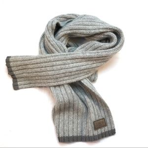 COACH Wool & Cashmere Gray Scarf