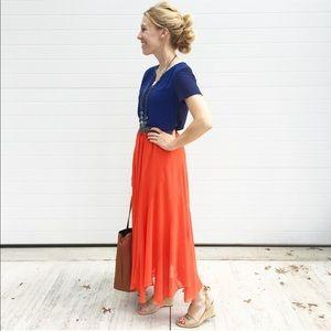 Dresses & Skirts - Orange & Blue Outfit