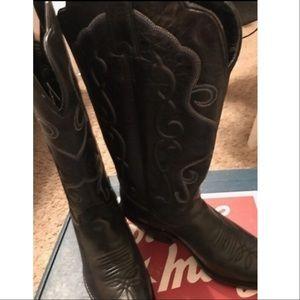 NWT Justin Black Cowboy Boots
