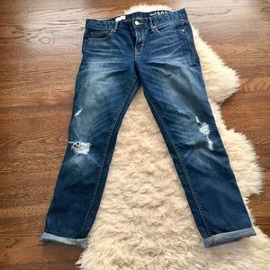 Distressed Vintage Style Real Straight Jeans