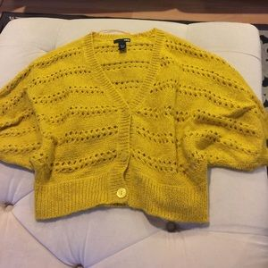 H&m crop sweater in mustard yellow