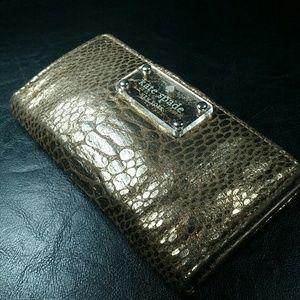 Kate Spade Gold Wallet