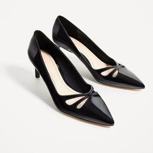 Zara Mid Heel Shoes with Openwork Detail 8