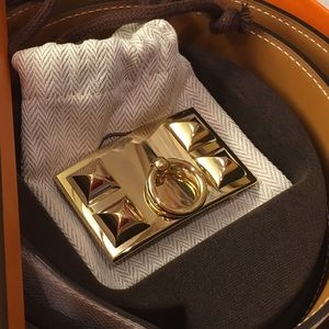 Hermès Gold CDC 32MM buckle and reversible belt