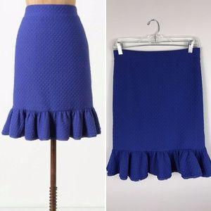 {Postmark Anthro} Basal Flounced Trumpet Skirt