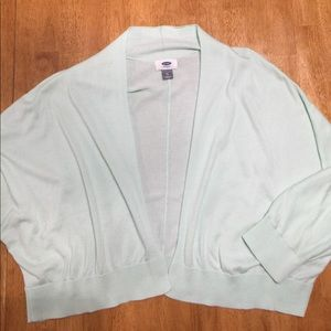 Mint green dolman sleeve cardigan. XL
