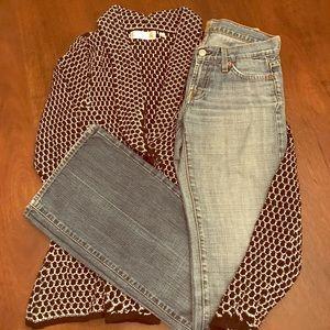 7FAMK jeans, size 26