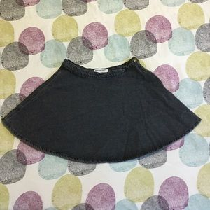 Black denim circle skirt