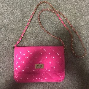 TopShop Neon Pink Quilted Bag