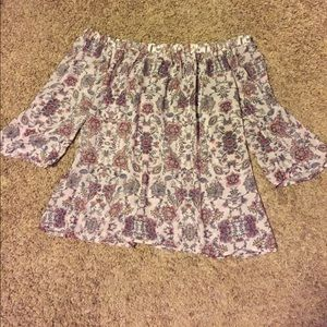 Forever 21 off the shoulder floral top size small