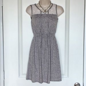 Soft White Lace Gray Mossimo Dress