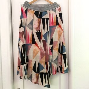 High-low faux wrap skirt