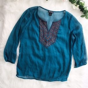 Lucky Brand Embellished Blouse