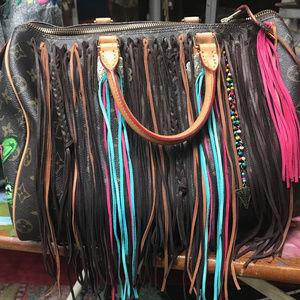 Louis Vuitton Cactus Painted Boho embellished bag