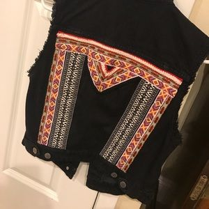 RARE H&M Coachella collection denim vest