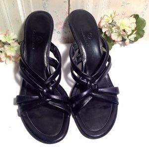 Cole Haan Shoes, Strappy Black Sandals Size 10-B