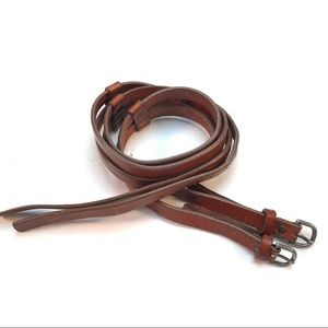 Banana Republic Double Skinny Brown Leather Belt