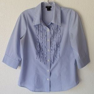 Ann Taylor button-down top with 3/4 sleeves