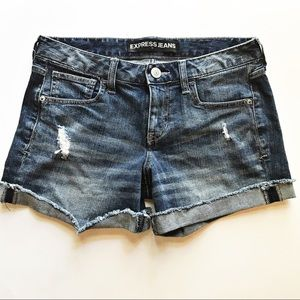 Express Distressed Denim Shorts size 6