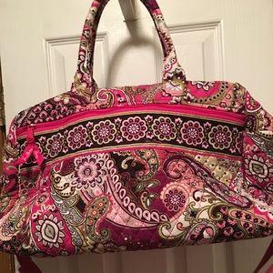 Over night Vera Bradley bag. Like new