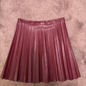 J.Crew Faux Leather Pleated Mini Skirt, Sz 4