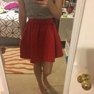 Red Express Skirt THAT HAS POCKETS!!