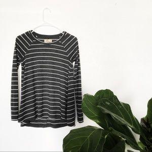 Gray/White Striped Tunic