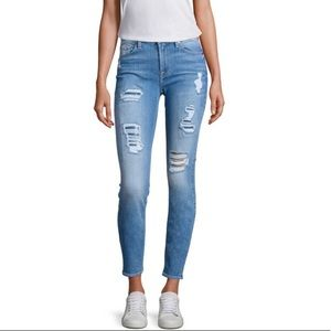 7 For All Mankind Skinny destroyed jeans