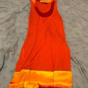 Express fire orange dress