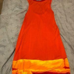 Express Dresses - Express fire orange dress