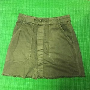 H&M Buttoned Down Olive Skirt