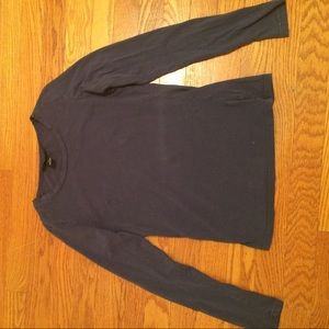 Long sleeve dark blue shirt