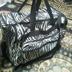 Huge Zebra Travel Bag duffel luggage big