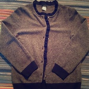 J. Crew Black and Grey Cardigan...Size S