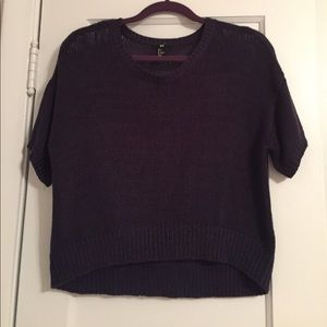 H&M Navy Short Sleeved Sweater!!