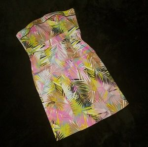 Tubetop Dress- Multi Colored Leaf by H&M