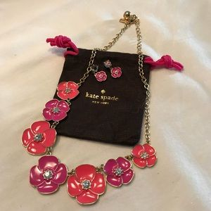 Kate Spade flutter floral necklace and earrings