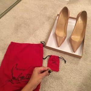 Authentic nude so kate Christian louboutins