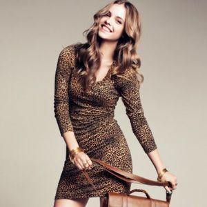 H&M Animal Print Body Con Dress